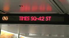 Times Square Train Display Stock Footage
