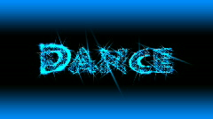 Stock Video Footage of Shining Dance Text - Music 09 (HD)