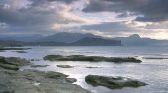 Seascape at sunset, timelapse Stock Footage