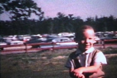 Boy Rides A Pony (1967 - Vintage 8mm film) Stock Footage