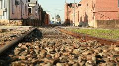 dolly train tracks - stock footage