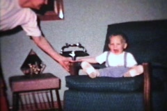 Little Boy Cannot Sit Still (1963 - Vintage 8mm film) Stock Footage