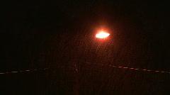 Street Light in Night Rain Stock Footage