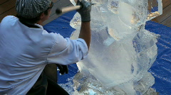Stock Video Footage of Ice carving P HD 4288