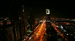 dubai traffic at night - stock footage