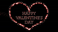 Stock Video Footage of Happy Valentine's Day - Heart 14 (HD)