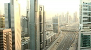 Dubai timelapse sunset to night Stock Footage