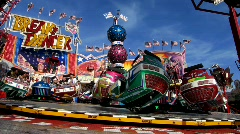 Carnival carousel turning Stock Footage