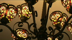 Stain glass chandelier Stock Footage