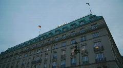 HD1080p Berlin Hotel Adlon Stock Footage