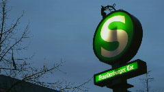 Stock Video Footage of HD1080p Berlin Underground Sign