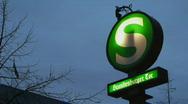HD1080p Berlin Underground Sign Stock Footage