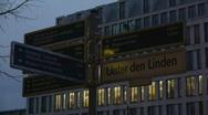 HD1080p Berlin Unter den Linden Stock Footage