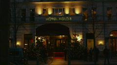 HD1080p Berlin Hotel Adlon at night. Stock Footage