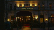 HD1080p Berlin Hotel Adlon at night. Stock Footage