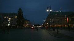 HD1080p Berlin Hotel Adlon by night Stock Footage