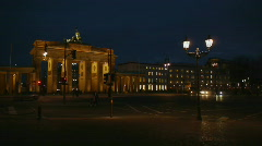 Stock Video Footage of HD1080p Brandenburg Gate Berlin by night