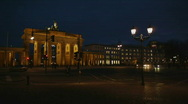 HD1080p Brandenburg Gate Berlin by night Stock Footage