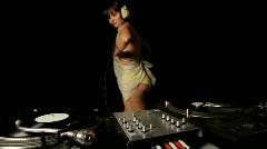 Female sexy dj dancer club party celebration music woman Stock Footage
