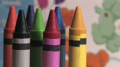 Crayons 7 - stock footage