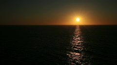 Ocean sunset off center P HD 4327 Stock Footage