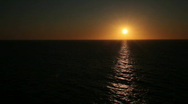 Stock Video Footage of Ocean sunset off center P HD 4327