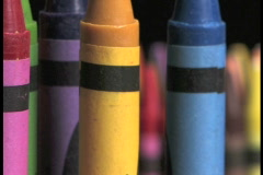 Crayons Zoom Out 9a - stock footage