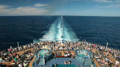 Cruise ship swimming pools P HD 4436 - stock footage
