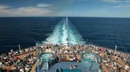 Stock Video Footage of Cruise ship swimming pools P HD 4436