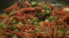 Close-up of stewing fresh vegetables Stock Footage