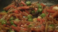 Stock Video Footage of Close-up of stewing fresh vegetables