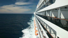 Passenger on balcony cruise ship P HD 4453 Stock Footage