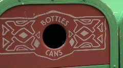 Bottles and cans recycle bin - HD  Stock Footage