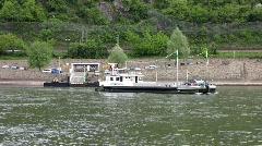 Germany Boppard, river Rhine Stock Footage