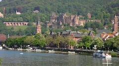 Germany Heidelberg, Neckar river Stock Footage