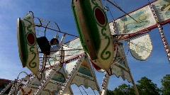 Carnival nostalgic swing swinging - stock footage