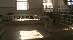 Alcatraz interior, 3-shot Stock Footage