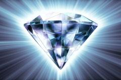 Diamond Spinning Loopable NTSC Stock Footage