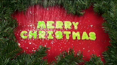 Christmas Cookie Snowfall Stock Footage
