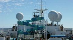 Cruise ship swimming slide radar P HD 4420 Stock Footage