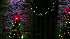 Christmas lights and decorations Stock Footage