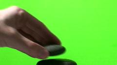 Stacking Zen rocks green screen V1 - HD  Stock Footage