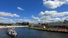 Germany Berlin Government district cruise at Spree Stock Footage
