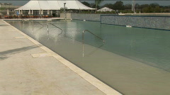 Lake conroe hotel pool 3 Stock Footage