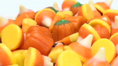 Candy corn and pumpkin candy loop V1 - HD  Stock Footage