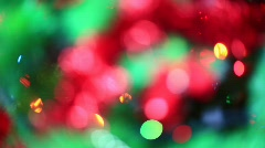 Stock Video Footage of Blured Christmass Lights HDV
