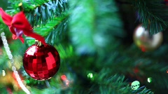 Christmass toy on tree  - stock footage