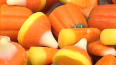 Candy corn and pumpkin candy zoom V2- HD  Stock Footage