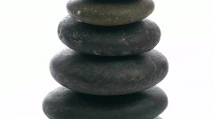 Stack of Zen rocks zoom out - HD Stock Footage