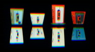 Stock Video Footage of cassettes rotate07